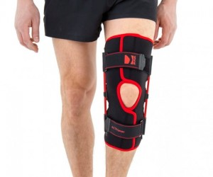 Open Knee Brace With Leaf Spring Hinges